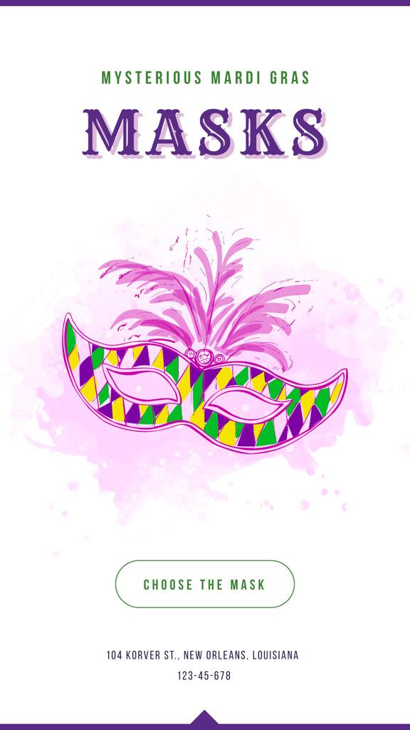 Mardi Gras carnival mask — Créer un visuel