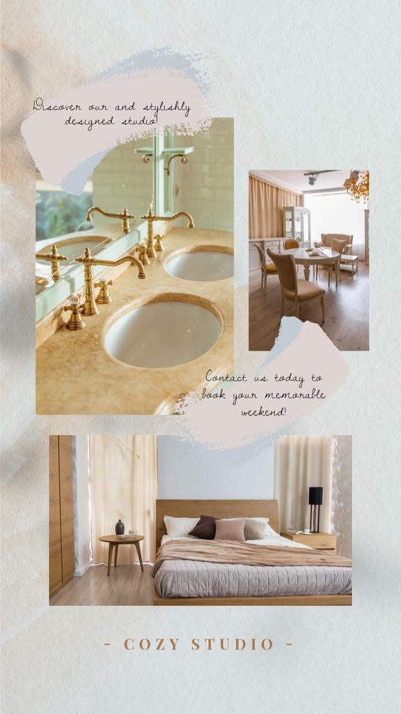 Hotel Offer Cozy Room Interior — Maak een ontwerp