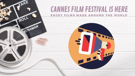 Plantilla de diseño de Cannes Film Festival poster Full HD video