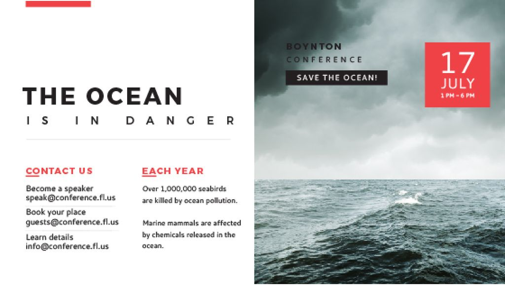 Boynton conference the ocean is in danger — Créer un visuel