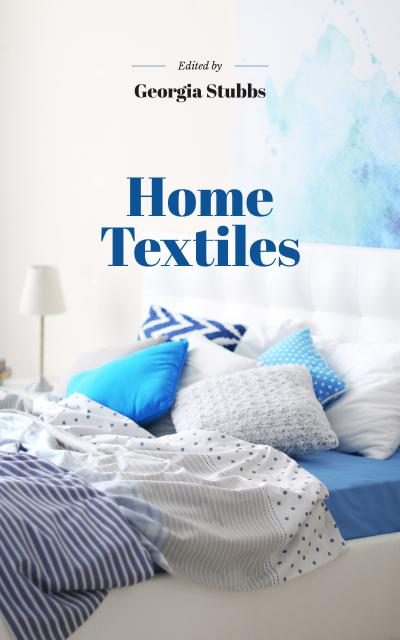 Template di design Home Textiles Cozy Interior in Blue Colors Book Cover