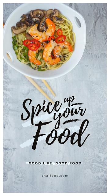 Designvorlage Asian style noodles für Instagram Story