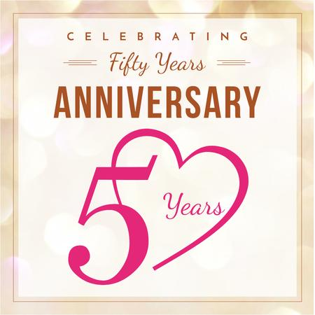 Anniversary celebration Invitation Instagram – шаблон для дизайну