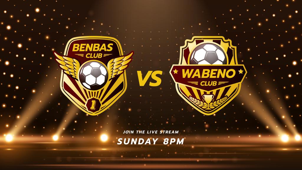 Football Match announcement with Badges — Créer un visuel