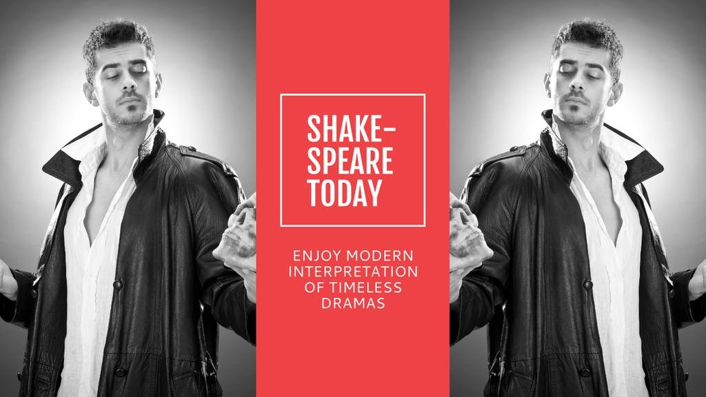 Theater Invitation Actor in Shakespeare's Performance — Create a Design