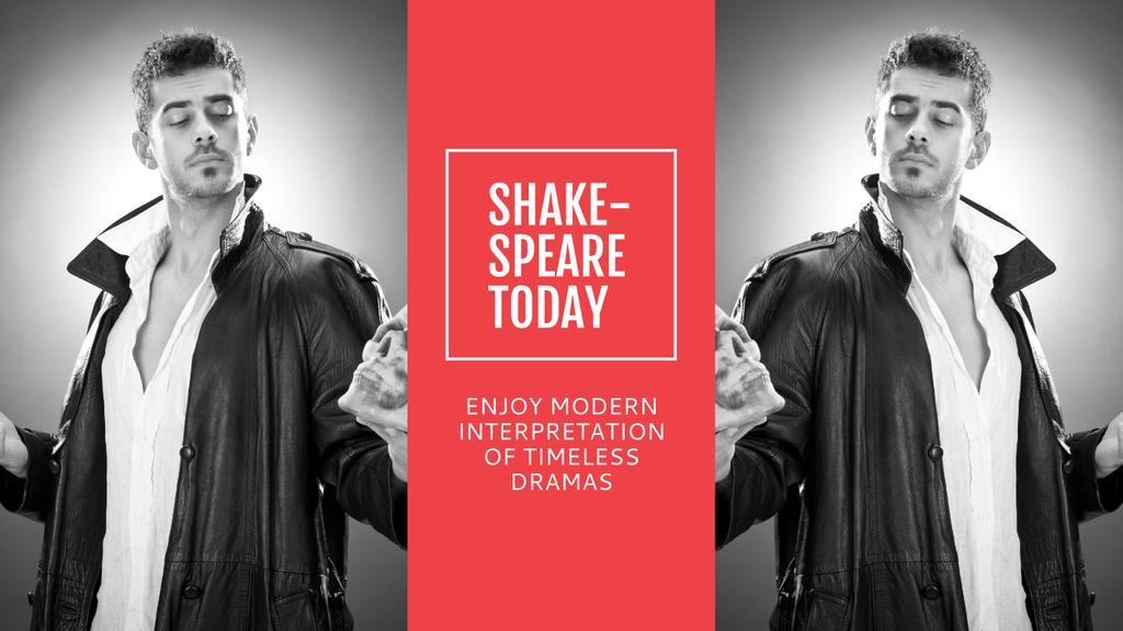 Theater Invitation Actor in Shakespeare's Performance — Modelo de projeto