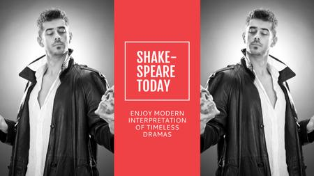 Theater Invitation Actor in Shakespeare's Performance Youtubeデザインテンプレート