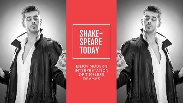 Template di design Theater Invitation Actor in Shakespeare's Performance Youtube