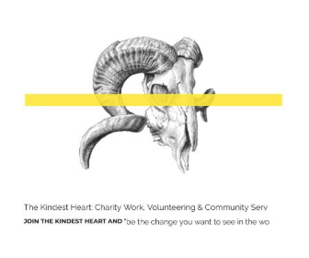 Template di design The Kindest Heart: Charity Work Large Rectangle