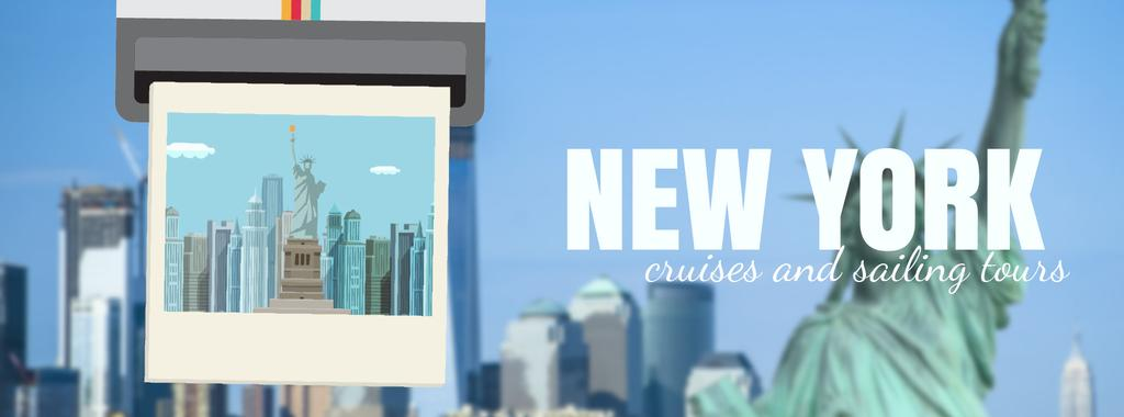 New York travelling spots on snapshop — Crear un diseño