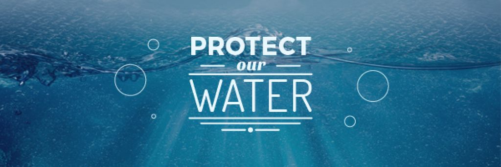 protect our water blue poster — Створити дизайн