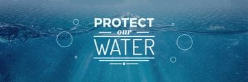 protect our water blue poster
