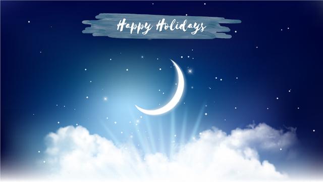 Template di design Shiny moon in night sky Full HD video