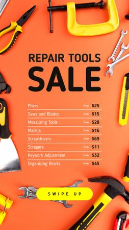 House Repair Tools Sale in Orange Instagram Story Modelo de Design