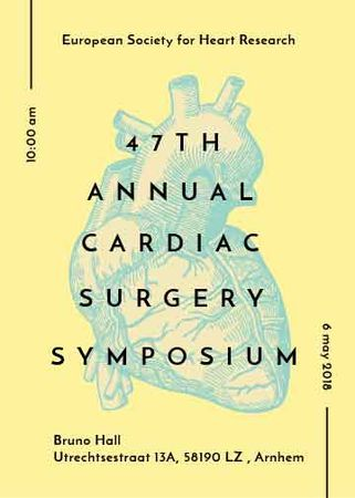Cardiac Surgery Heart sketch Flayer Modelo de Design