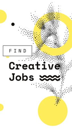 Plantilla de diseño de Creative Jobs offer on graphic pattern Instagram Video Story