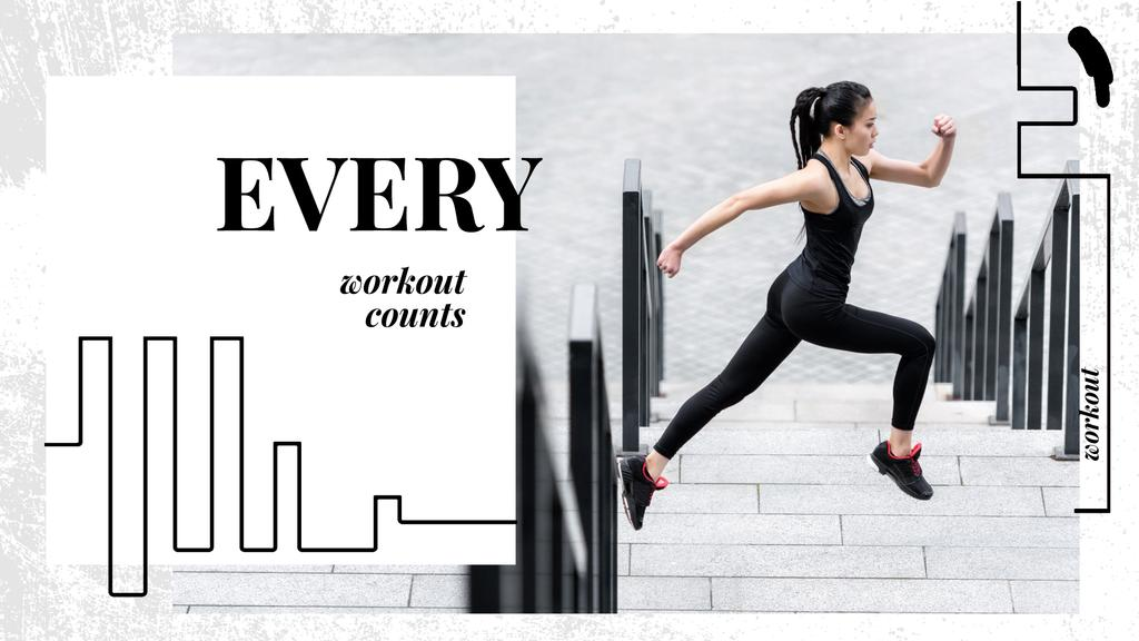 Workout Inspiration Girl Running in City — Crear un diseño
