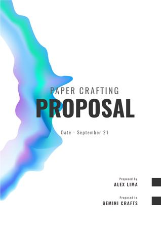 Papercraft Design offer on abstract pattern Proposal Modelo de Design