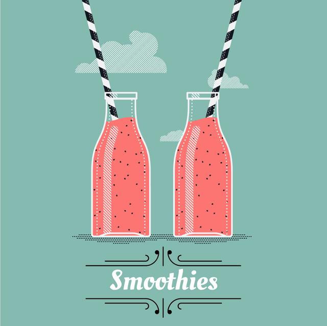 Template di design Pouring and Drinking Pink Drinks in Bottles Animated Post