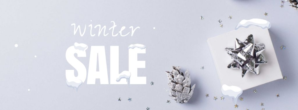 Winter Sale with Gift box — Crear un diseño