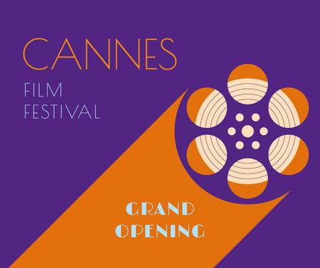 Ontwerpsjabloon van Facebook van Cannes Film Festival bobbin