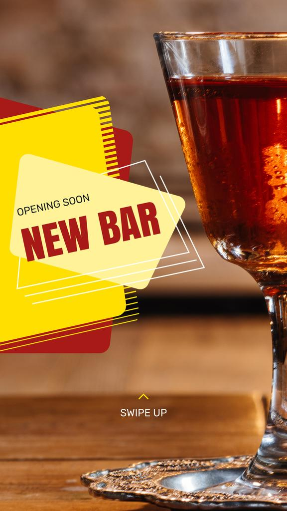 Bar Promotion Glass with Cocktail — Maak een ontwerp