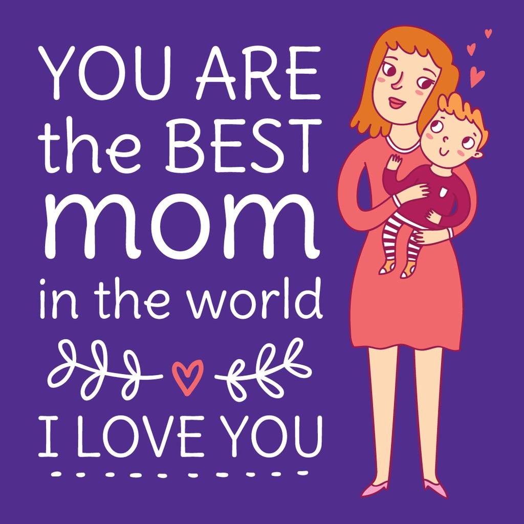 Best mom in the world poster — Crear un diseño