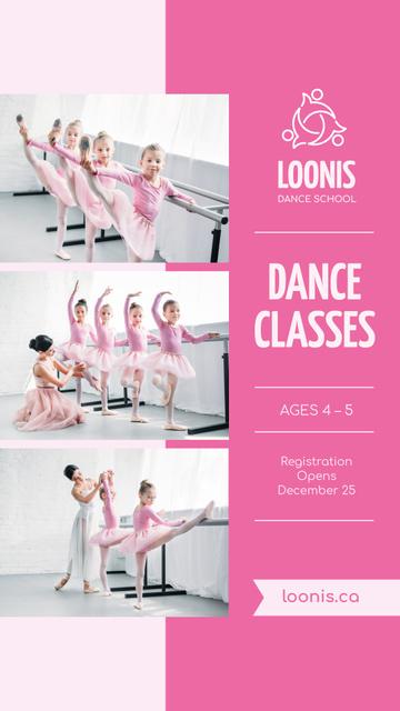 Ontwerpsjabloon van Instagram Story van Ballet Classes Discount Offer in Pink