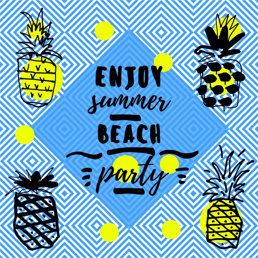 Summer beach party invitation — Créer un visuel