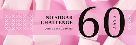 Pink Sweet Marshmallows Email header Modelo de Design