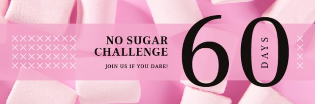 Pink Sweet Marshmallows Email header – шаблон для дизайна