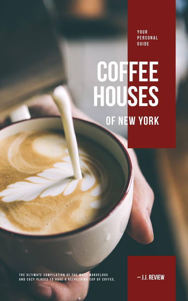 Barista making coffee with milk — Создать дизайн