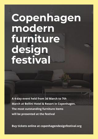 Ontwerpsjabloon van Poster van Modern furniture design festival