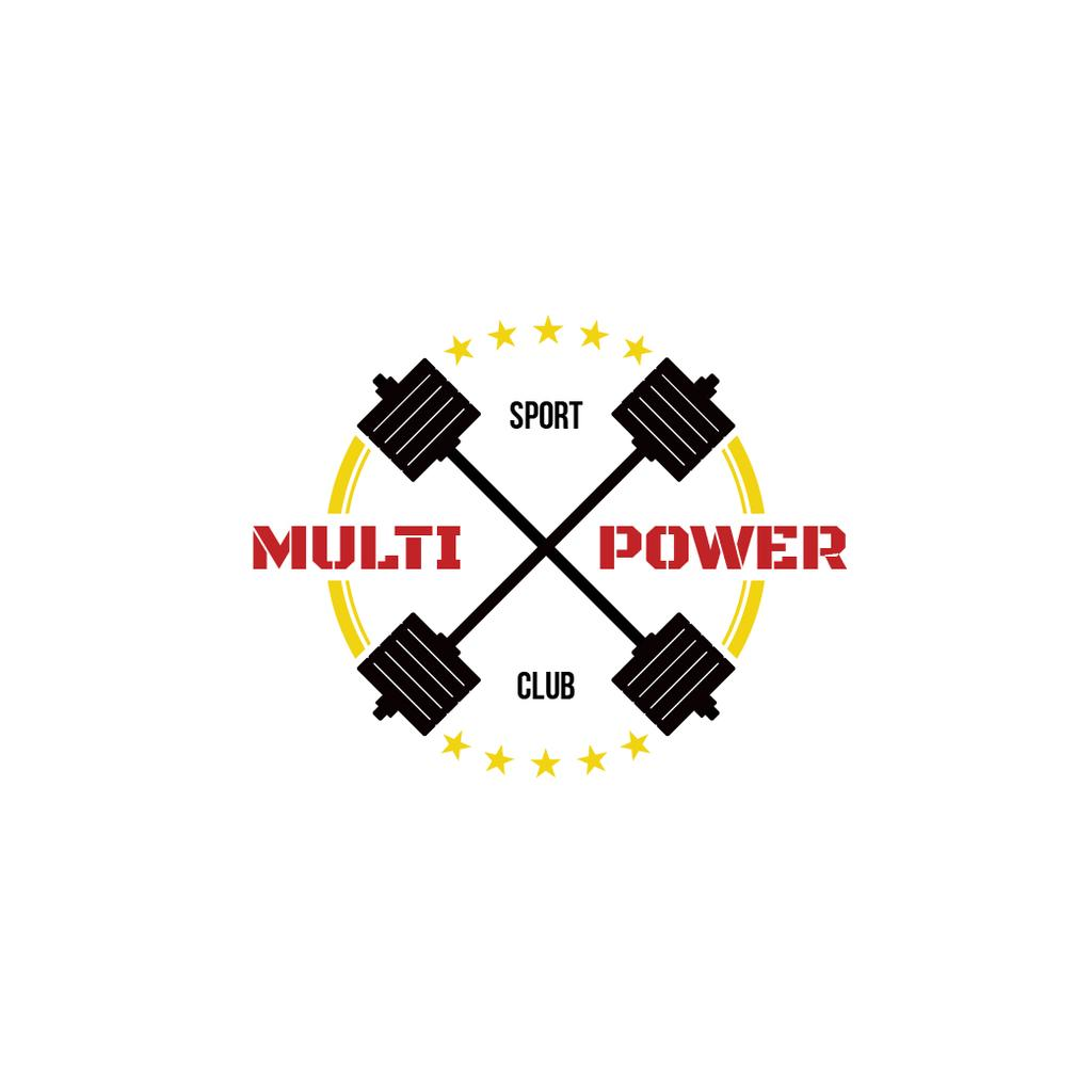 Sport Club Ad with Barbells Icon — Créer un visuel