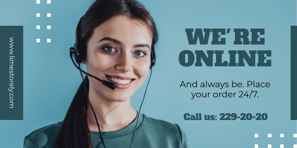 Online services Ad with Smiling Support Operator —デザインを作成する