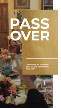Passover Celebration Family at Dinner Table | Vertical Video Template