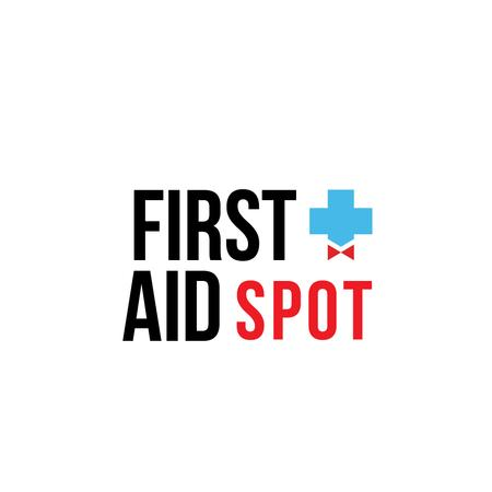 Ontwerpsjabloon van Logo van First Aid Spot Cross with Bow