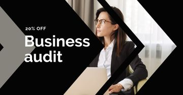 Business Accounting Services Ad Confident Businesswoman