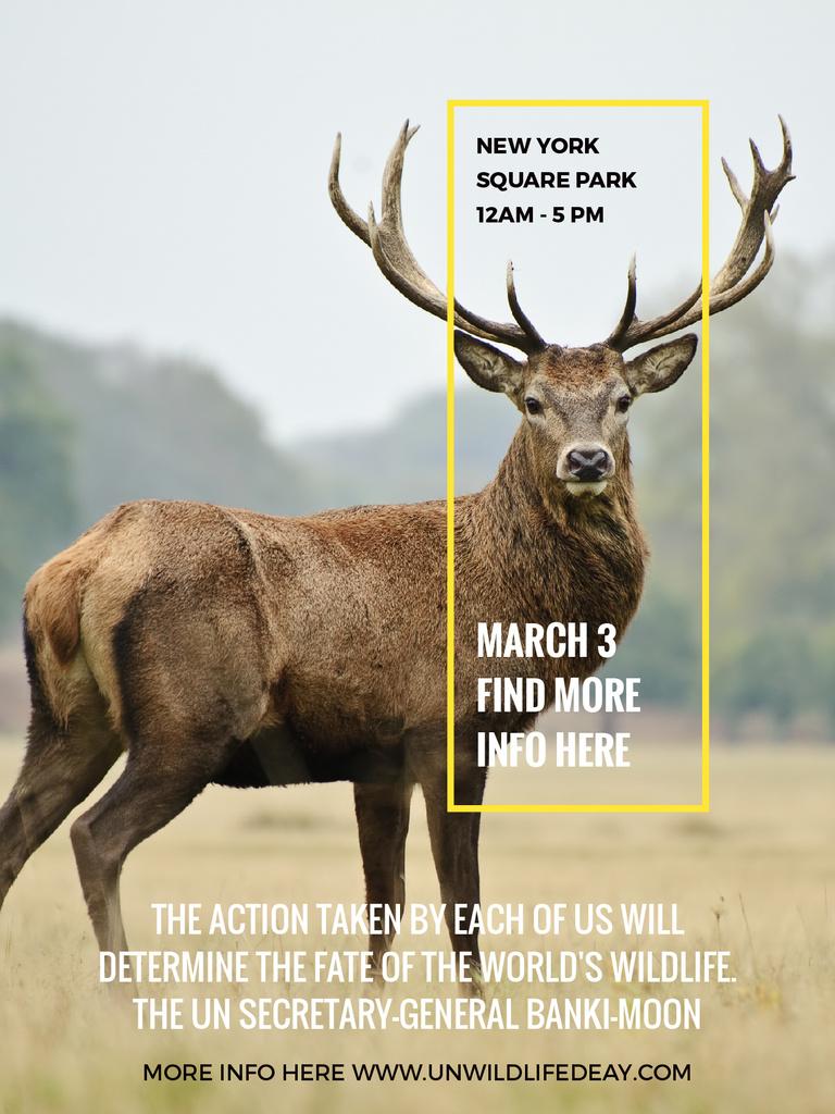 Eco Event announcement with Wild Deer — Créer un visuel