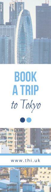 Plantilla de diseño de Tokyo tour advertisement Skyscraper