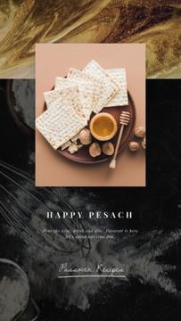 Happy Passover Unleavened Bread | Vertical Video Template