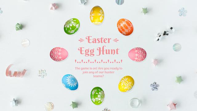 Plantilla de diseño de Colored Easter eggs Full HD video