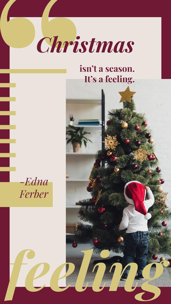 Kid decorating Christmas tree — Create a Design