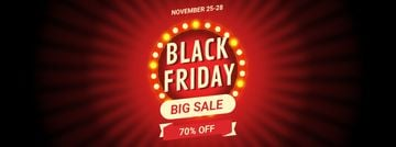 Black Friday Sale Flickering Lamps | Facebook Video Cover Template