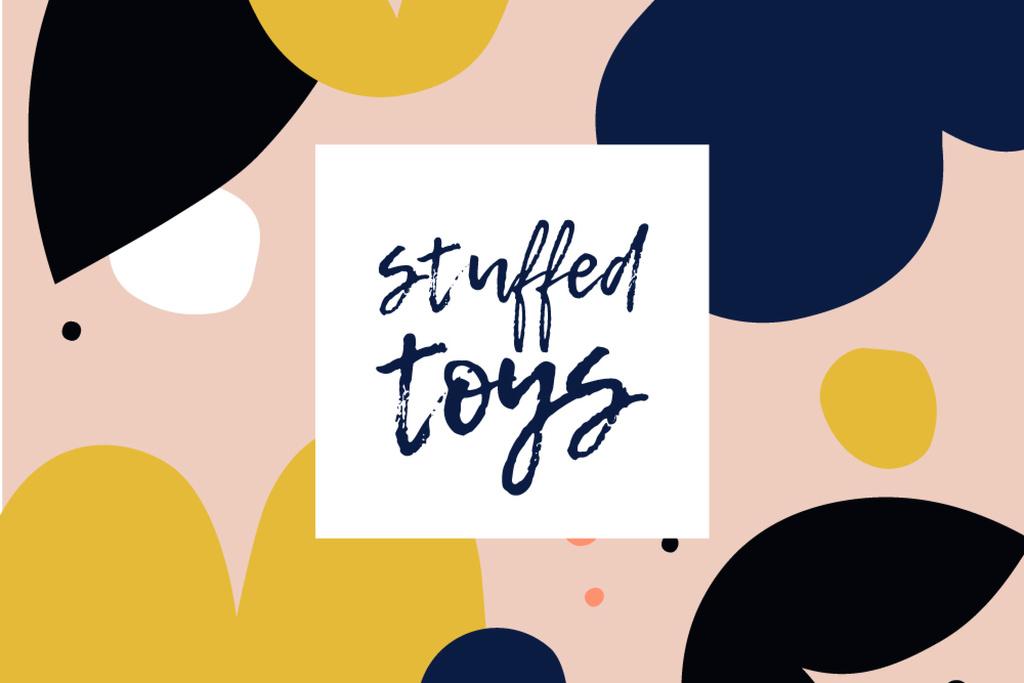 Stuffed Toys brand colorful ad — Create a Design