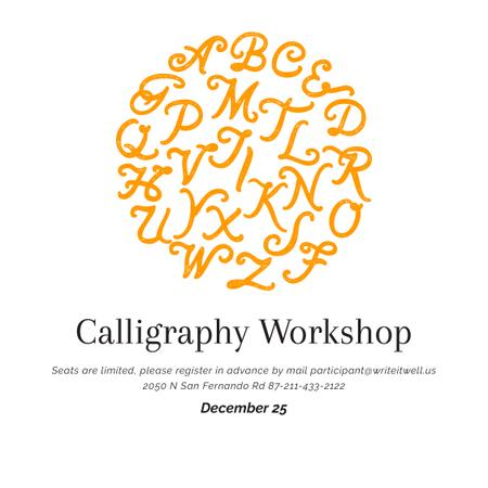 Ontwerpsjabloon van Instagram van Calligraphy workshop Announcement