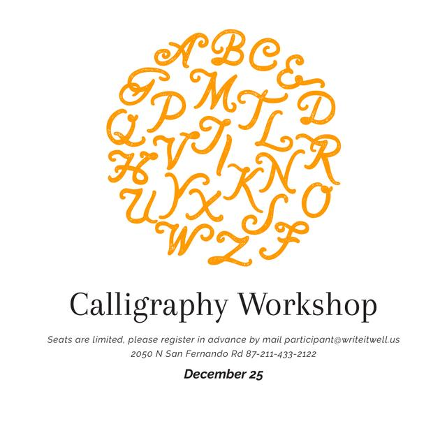 Calligraphy workshop Announcement Instagramデザインテンプレート