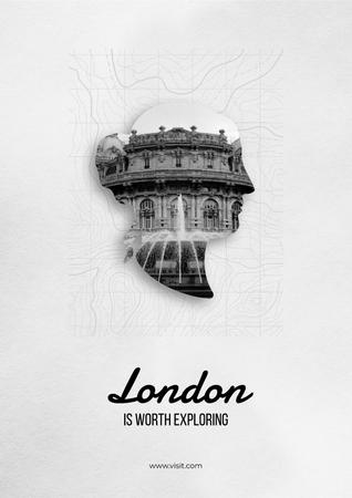Plantilla de diseño de London tour advertisement Poster