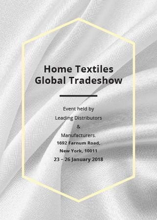 Modèle de visuel Home Textiles event announcement White Silk - Flayer