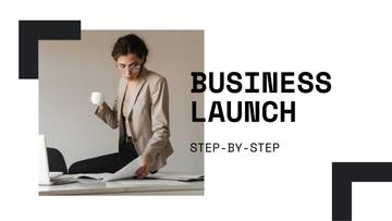 Business Launch tips with Confident Businesswoman